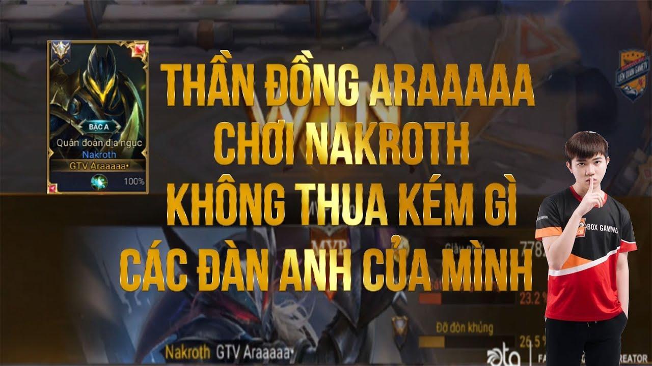 BOX Araaaaa | Thể Hiện Bản Lĩnh Của Mình Khi Gặp Top Thách Đấu Bằng Nakroth !