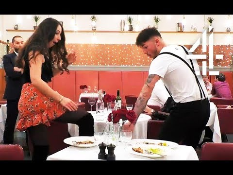 Dates Start Boxing in Restaurant & Accidentally Kick Drinks Over!  First Dates