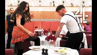 Dates Start Boxing in Restaurant & Accidentally Kick Drinks Over! | First Dates
