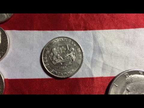 McDonald's coin finds- 1989 Singapore 20 cents and a 1971 D half dollar