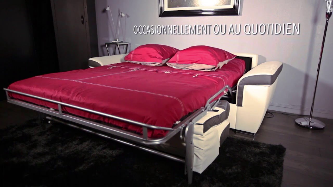 meubles sicre canap lit rapido gain de place youtube. Black Bedroom Furniture Sets. Home Design Ideas