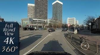 Hamburg, Germany: Uhlenhorst/Barmbek-Süd, Mundsburg, Oberaltenallee - 4K (3840x1920) 360° Video