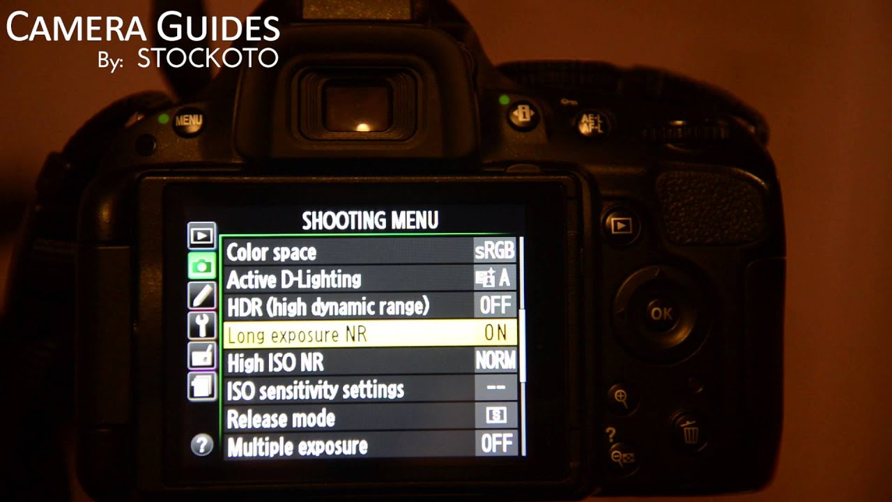 How To Set Long Exposure Noise Reduction On A Nikon D5100 D5200 D5300