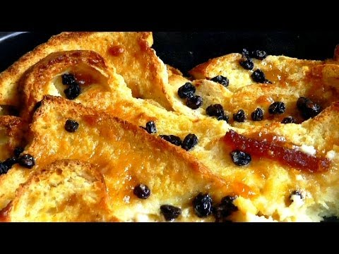 How do you make bread and butter pudding from scratch