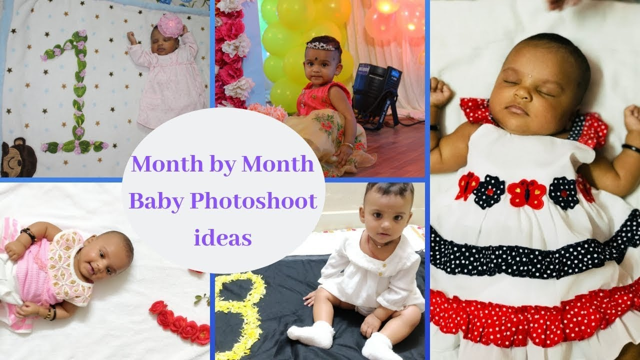 Month by month photoshoot ideas at home monthly birthdays of baby monthly baby photoshoot ideas