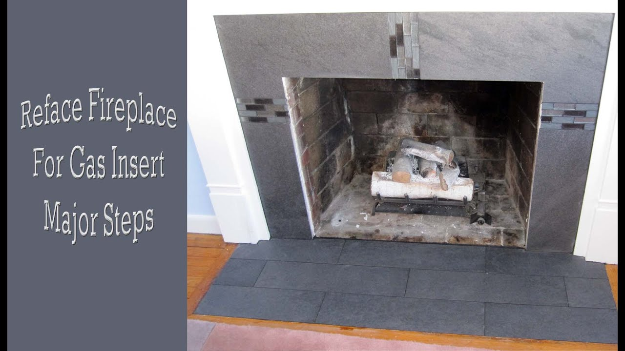 how to reface a fireplace for a gas insert major steps youtube