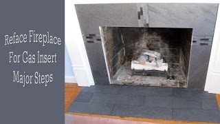 How to reface a fireplace, this is a brick fireplace that is to receive a gas unit, so the heat on the brick surrounding the fireplace will
