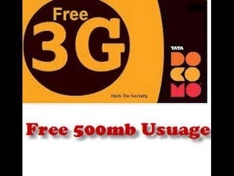 Tata Docomo Free Internet Trick