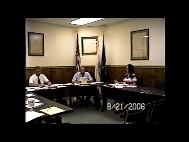 Champlain Village Board Meeting 8-21-06