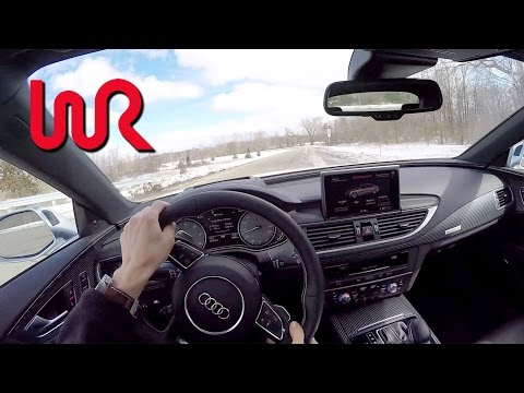 2016 Audi S7 WR TV POV Test Drive