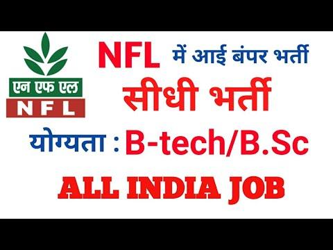 National Fertilizers Limited में आई Engineers/Graduates की भर्ती। NFL Recruitment 2017