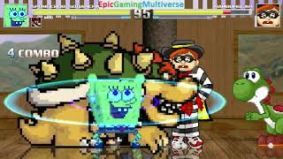 SpongeBob SquarePants And Super Mario Bros. Characters VS Hamburglar In A MUGEN Match / Battle