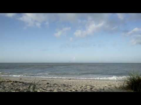 SANIBEL ISLAND FL. RELAXING SOUND OF THE MEXICO GULF WITH DIVING PELICANS
