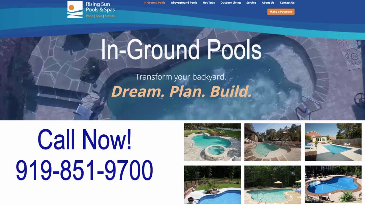 Garner Nc In Ground Pool S And Service Call Rising Sun Pools At 919 851 9700