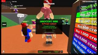 Playing the Mad Murder on Roblox
