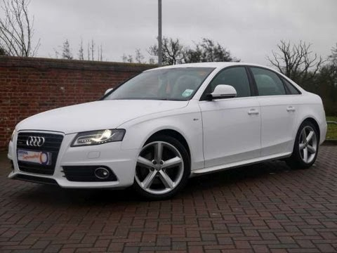 2009 audi a4 s line 3 0tdi quattro saloon white for sale in hampshire youtube. Black Bedroom Furniture Sets. Home Design Ideas