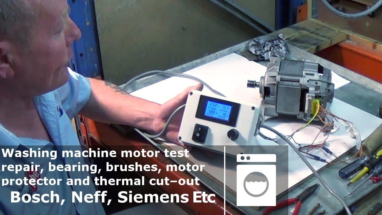 Washing machine motor test and repair bearing brushes a for Washing machine motor bearings