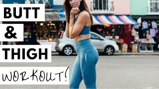 BEST BUTT AND THIGH WORKOUT | AT HOME, NO EQUIPMENT