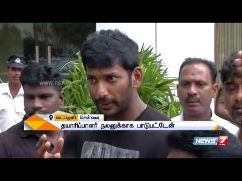 Actor Vishal speaks about producers