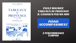 Paule Maurice – Tableaux de Provence, mvt. II (Piano Accompaniment)
