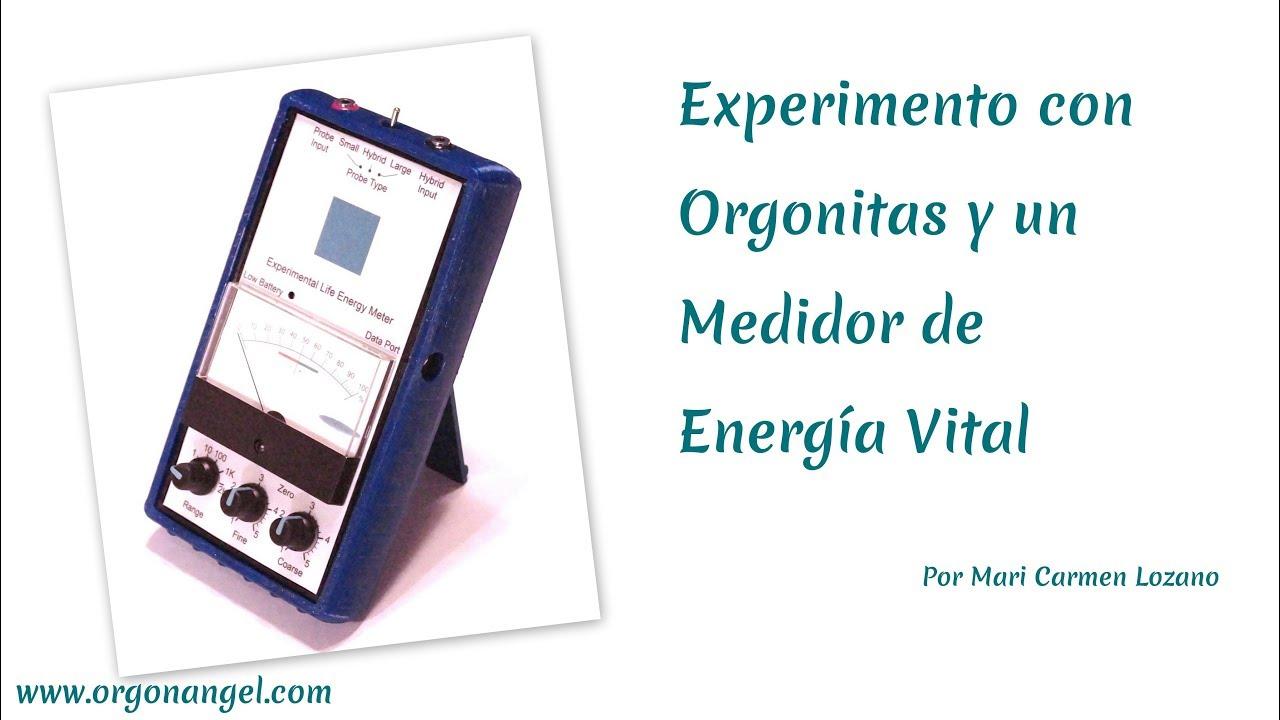 Demostración con diferentes Orgonitas en Medidor de Orgon - Orgonangel