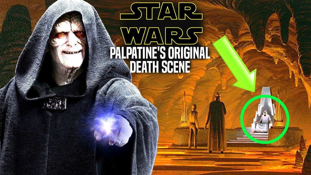 Palpatine S Original Death Scene Revealed Explained Star Wars Scrapped Youtube