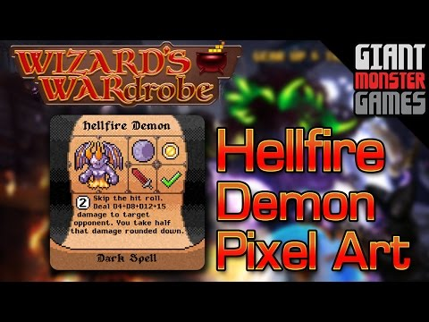 Hellfire Demon Pixel Art - Final Boss Spell for Wizard's WARdrobe