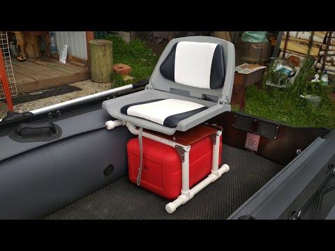 Установка кресла в лодку ПВХ, самодельная платформа за копейки
