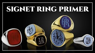 Men's Signet Ring Primer -  How to Find Rings For Men