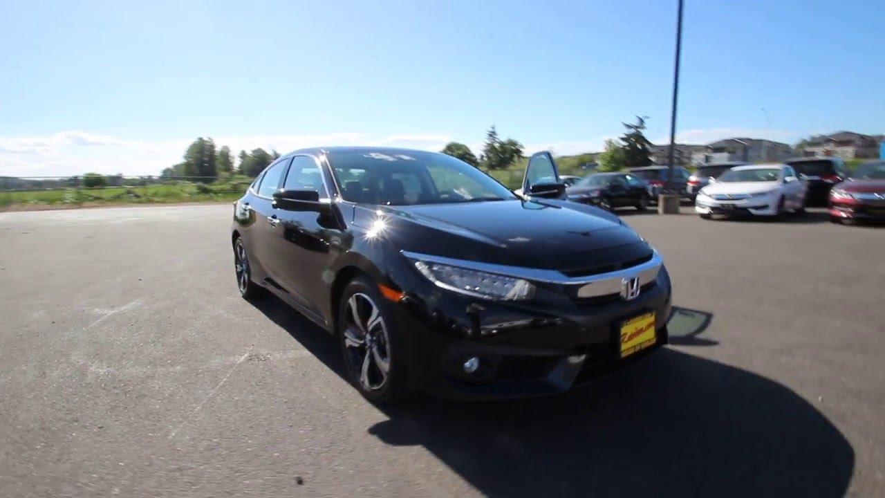 2016 Honda Civic Touring Black Gh644888