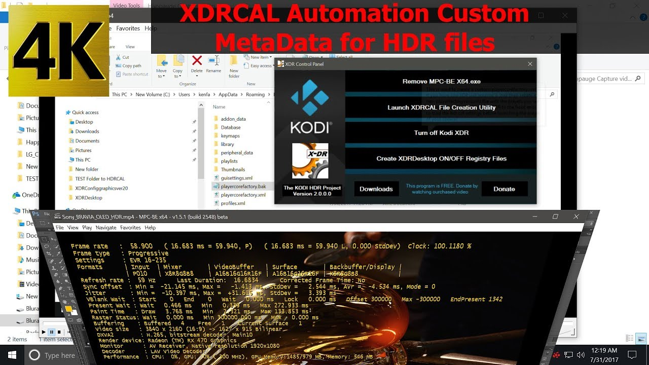 Kodi project to enable HDR in MPC to launch any movie