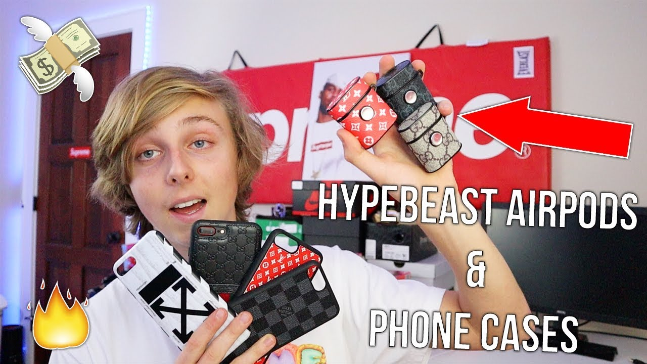 Unboxing Hypebeast Airpods Phone Cases Supreme Off White Gucci