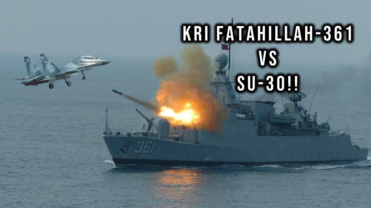FTH 361 VS SU 30!! LATIHAN GABUNGAN DUA MATRA TNI AL DAN TNI AU!!