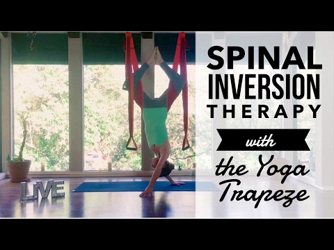Neck & Back Pain Relief - Spinal Inversion Therapy with Yoga Trapeze Instruction