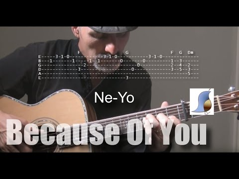 Ne-Yo - Because Of You - Guitar Lesson