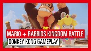 Mario + Rabbids Kingdom Battle Donkey Kong Adventure Gameplay Trailer