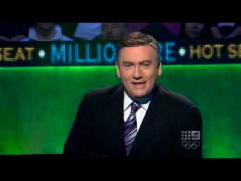 Who Wants To Be A Millionaire - 18-/01/10 Eddie Mcguire embarrasses contestant and her boyfriend