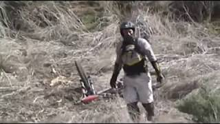 Downhill Mountain Biking Jumps and Crashes Ted Williams, Meadowbrook, Poway, CA