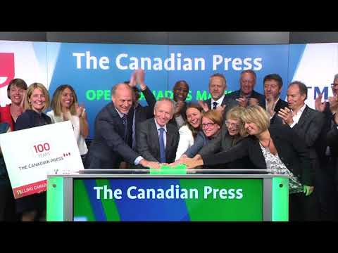 The Canadian Press opens Toronto Stock Exchange, September 1, 2017