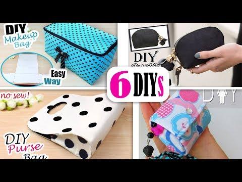 6 DIYs BEST BAG IDEAS NO SPEND MONEY // Cute Purse Bag Tutorial Easy