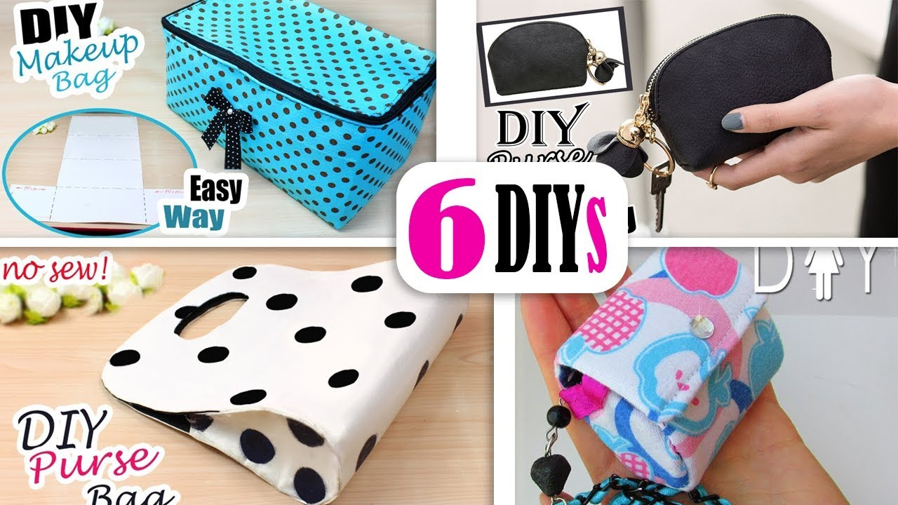 6 Diys Best Bag Ideas No Spend Money Cute Purse Bag Tutorial Easy Youtube