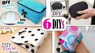 6 DIYs BEST BAG IDEAS NO SPEND MONEY // Cute Purse Bag Tutorial Easy