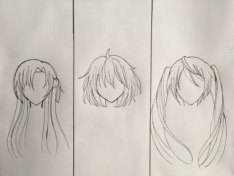 How to draw anime boy hair