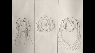 Anime Drawing Hair Ideas