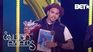 SNEAK PEEK - Chris Brown 's Acceptance Speech | Soul Train Awards