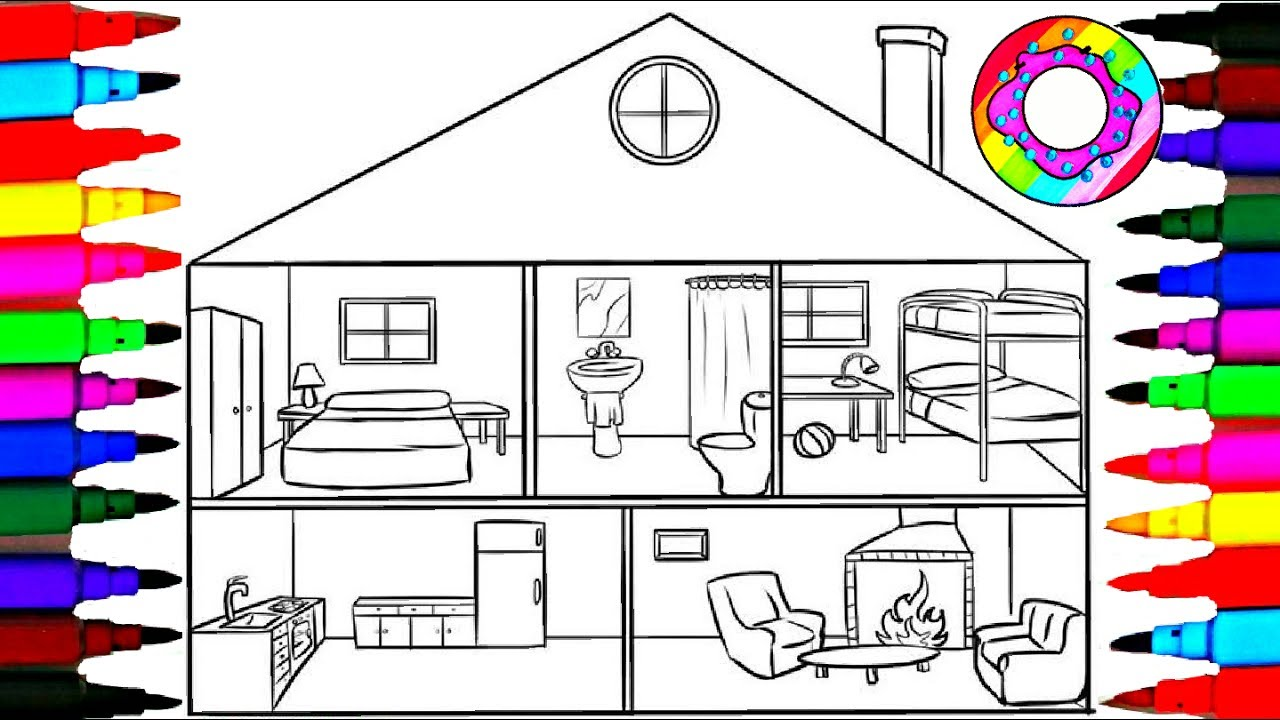 living room bedroom bathroom kitchen coloring pages bathroom l bathtub l bedrooms l living room 18975