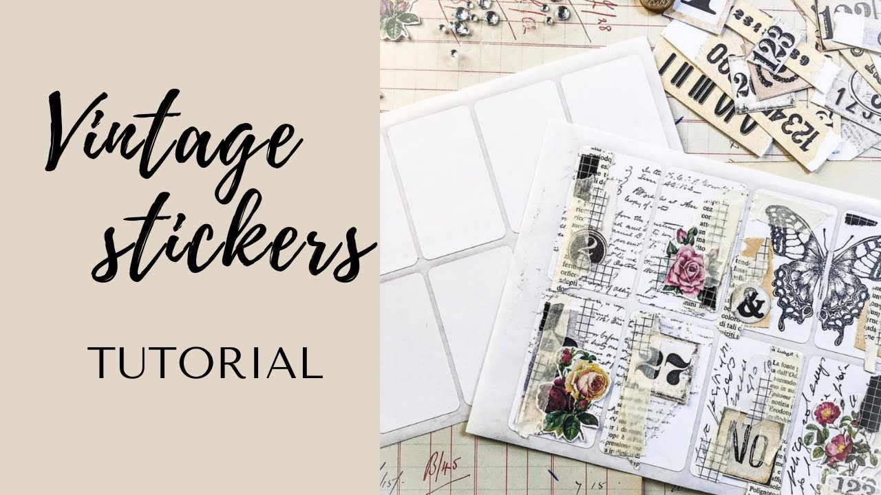 How to make Vintage STICKERS | Junk journal joy #shorts