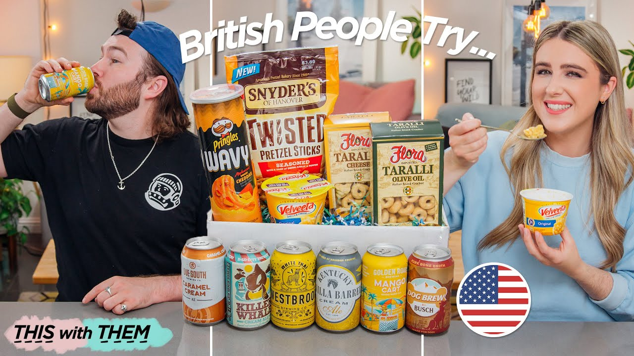 Trying American Beer and Snacks! - This With Them