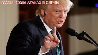 Трамп заявил об ответственности правительства Асада за химатаку в Сирии