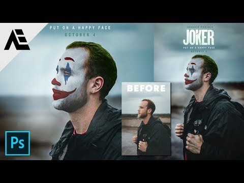 Photoshop Tutorial - How to create JOKER movie poster ( Simple method ) thumbnail